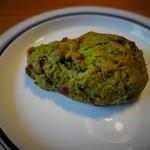 エコモ レストラン - クランベリーと抹茶のスコーン