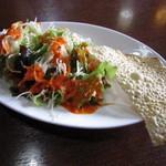 インド&ネパールレストラン WELCOME - サラダ&パパド♪