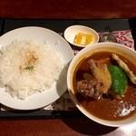 ターラ - チキン野菜スープカレー激辛、850円です。