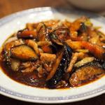 青菜 - 茄子豚肉甘辛酢炒め定食 火力が本物やわっあつあつっ