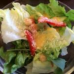 カフェ モーツァルト・フィガロ - ランチメニューに付いているサラダ。