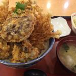 菊新 - 魚沼きのこのどか盛り天丼