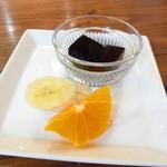珈琲倶楽部 - コーヒーゼリーとみかん、バナナ