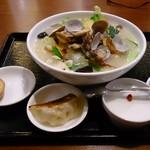 龍祥軒  - 味玉、餃子、杏仁豆腐つき