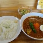 FRANK - スパイスカリィ(チキン)の全景750円!