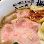 楓 - 桜海老ラー油の鯛出汁塩ワンタン麺(チャーシュー)