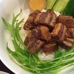 china cafe - 台湾ランチ〜豚角煮ルーローハン〜