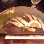 並木ジャンボ - サバのきずし 700円(2016年4月2日撮影)