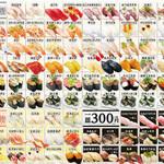 弁慶 - 料理写真:現行お寿司メニュー
