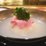 にくの匠 三芳 - ミスジと新玉葱のお椀 蛤の出汁
