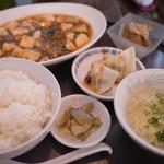 中国料理 竜苑 - ランチセット(麻婆豆腐)
