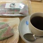 おいでませ吉部 - 竿まんじゅうとコーヒー
