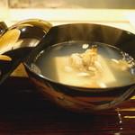 祇園 末友 - お椀  浅蜊と胡麻豆腐