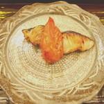 祇園 末友 - 鰆燻製と焼トマト
