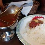 ボルツ - トマト&チキンのルー、ライス共大盛り