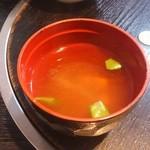 レストラン 中台 - 味噌汁