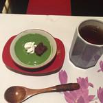 京料理 春神 - 抹茶プリン