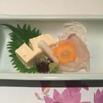 京料理 春神 - 真鯛刺身と湯葉