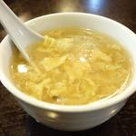 金明飯店 - スープであります。 (^_^)b
