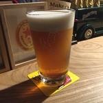 STAND - じゃーん、泡からこんなまろやかビールになりました( ^ω^ )これは一度頂いただく価値ありです(^_−)−☆