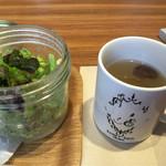 ディヴァージュサイドカフェ - セットサラダとスープ