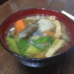 カフェ ル ミロワール ドー - 【料理】具だくさん味噌汁