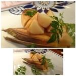 食堂えぶりお - ◆合馬の筍、醤油焼き(1000円)・・今が旬ですので頂くことに。 エグミもなく美味しい筍です。お味が薄いので、もう少しお醤油を塗られてもいいような。