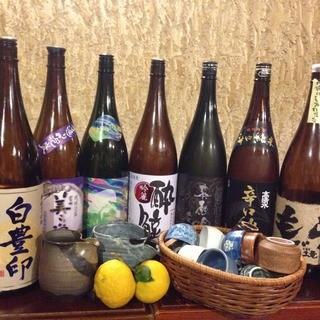 日本酒・焼酎多く取り揃えております