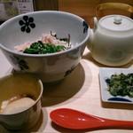 えん - 朝食の出汁茶漬けセット