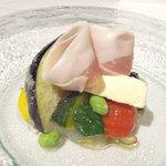 リストランテ ティ ヴォリオ ベーネ - 朝採り京野菜のサラダ
