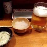 くにまつ - 生ビール&お通し
