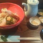 蕎麦食処 六根亭 - 当店オリジナルの巾着六根蕎麦