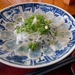 ふくの河久 - マフグ刺身(700円)