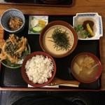 和食処清恵 - 料理写真:数量限定!大多喜産自然薯100%「麦とろ御膳」1800円※むかごかき揚げ付
