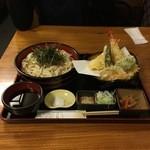 和食処清恵 - 天ざるうどん1450円