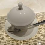 フレンチごはん 西麻布 GINA - 蛤のロワイヤル ずわい蟹と青海苔スープ1