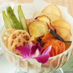ハーブソルトの野菜チップス