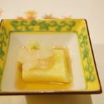 うぶか - 料理写真:牡丹海老 銀杏豆腐 出汁 山葵