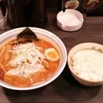 麺2000 - あっさり辛味噌ラーメンと大ライス