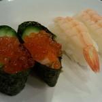 すたみな太郎 - 夜の部…お寿司のコーナーの エビは  前回 昼の部訪問時には ありませんでしたが  2016年4月に 電話確認したところ、現在は 昼の部も 寿司ネタにエビが あるそうです!
