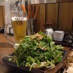 肉汁餃子のダンダダン - パクチーサラダのボリューム496円!