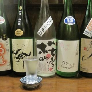 日本酒が大好きな店主厳選の日本酒
