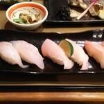 49490786 - 本日の焼魚と地魚にぎり  2.354円♪