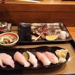49490788 - 本日の焼魚と地魚にぎり  2.354円♪