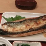 よしはら - <2016年4月・ランチ>灰干し秋刀魚、焼き立て熱々☆