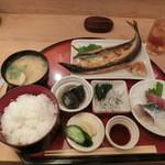 よしはら - <2016年4月・ランチ>灰干し秋刀魚定食。1,000円ぽっきり。