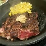 49499648 - ワイルドステーキ200g 焼きながら食べます
