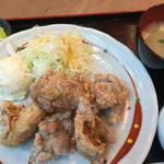 49499808 - 鶏もも唐揚げおろしポン酢定食790円(税込)
