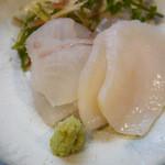 はち巻岡田 - ヒラメ、タイラ貝