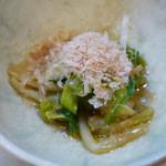 はち巻岡田 - 春野菜の和え物